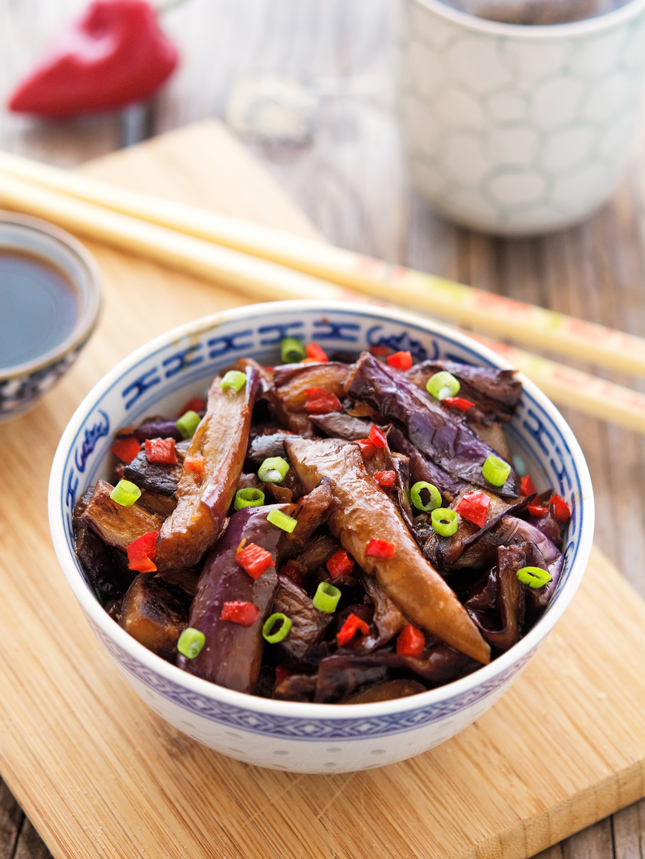 15-Minute Chinese Eggplant with Spicy Garlic Sauce