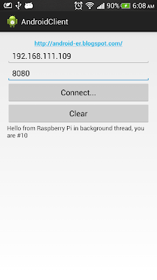 Implement Socket on Android to communicate with Raspberry Pi