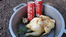 How to burn chicken with cocacola
