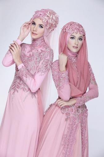 Contoh Model Baju Gamis Brokat Kombinasi Sifon Modis Dan Elegan