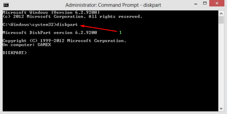 how to create a partition using command prompt