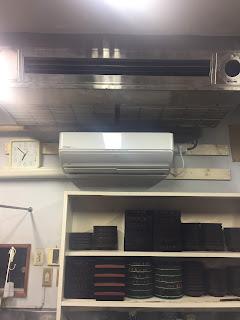 エアコン設置完了、試験冷房。