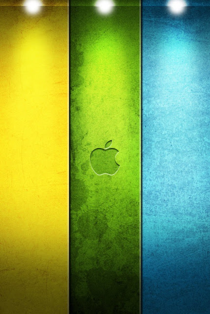 Color Apple Logo iPhone Wallpaper By TipTechNews.com
