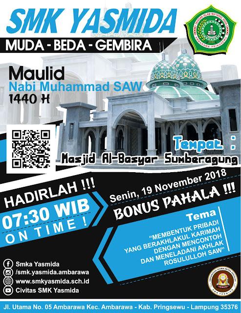 Design Flyer Acara Peringatan Maulid Nabi Muhammad SAW