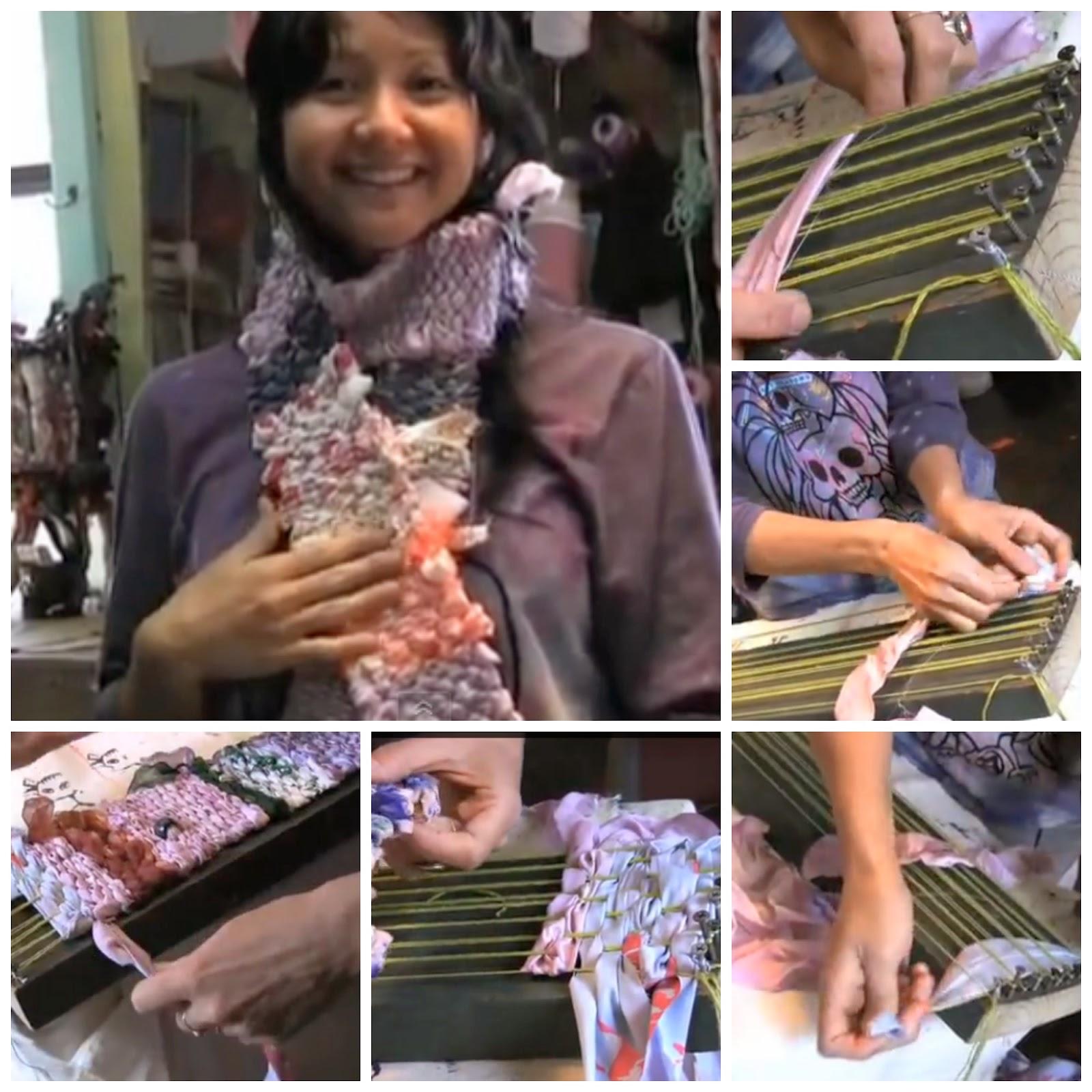 telar, tejer, manualidades, tutoriales, bufanda