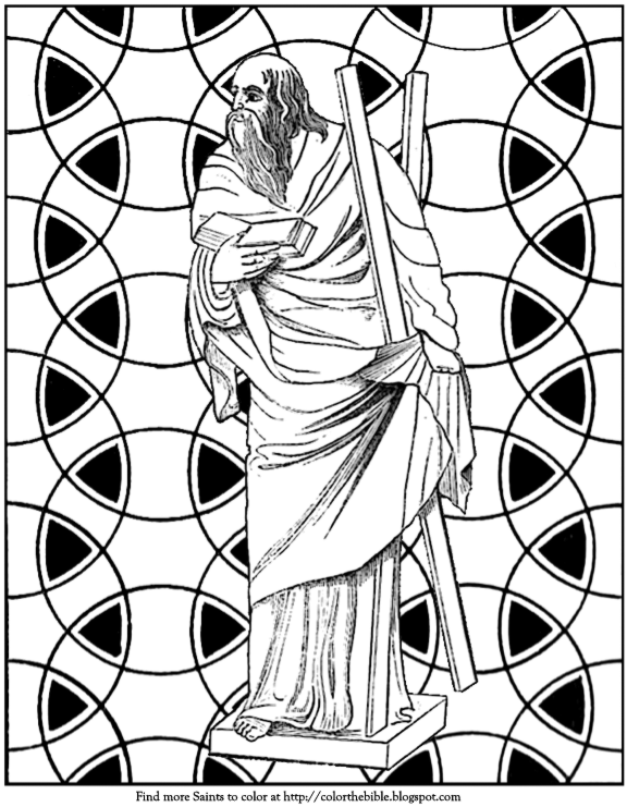 color a mosaic of saint andrew