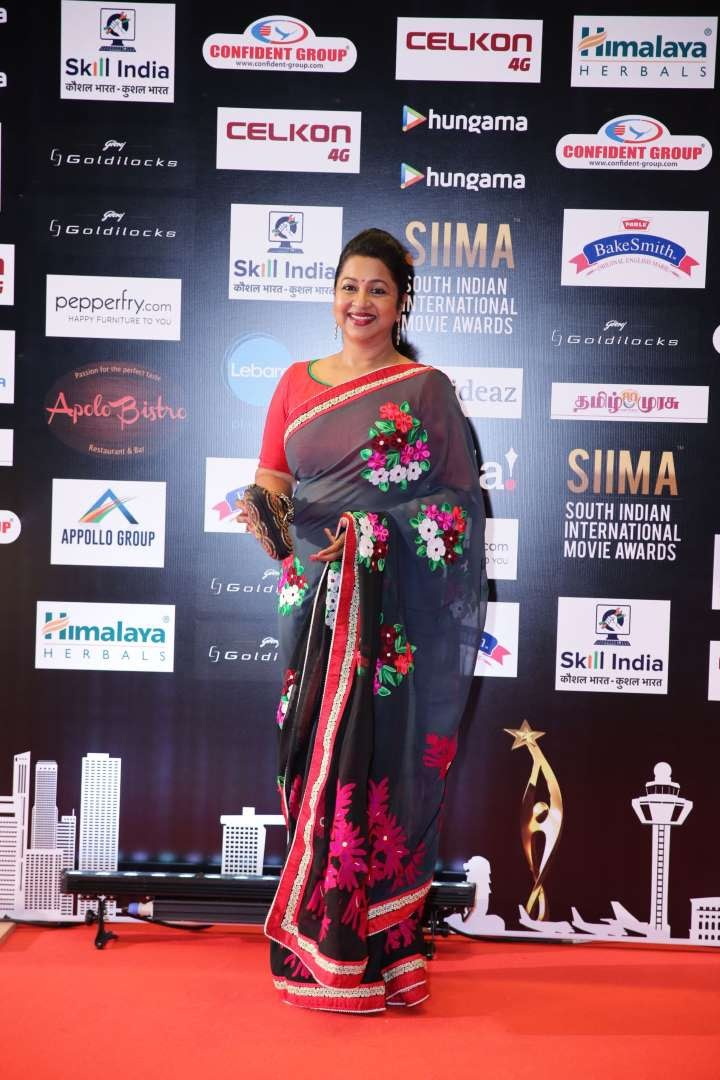 Our shutterbug caught Tamil actress Raadhika Sarathkumar at SIIMA