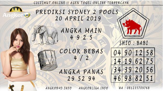 Prediksi Angka Jitu SYDNEY 2 POOLS 20 APRIL 2019