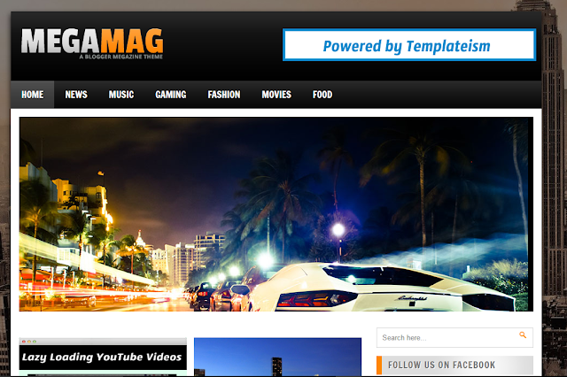 MegaMag Blogger Template - Templateism