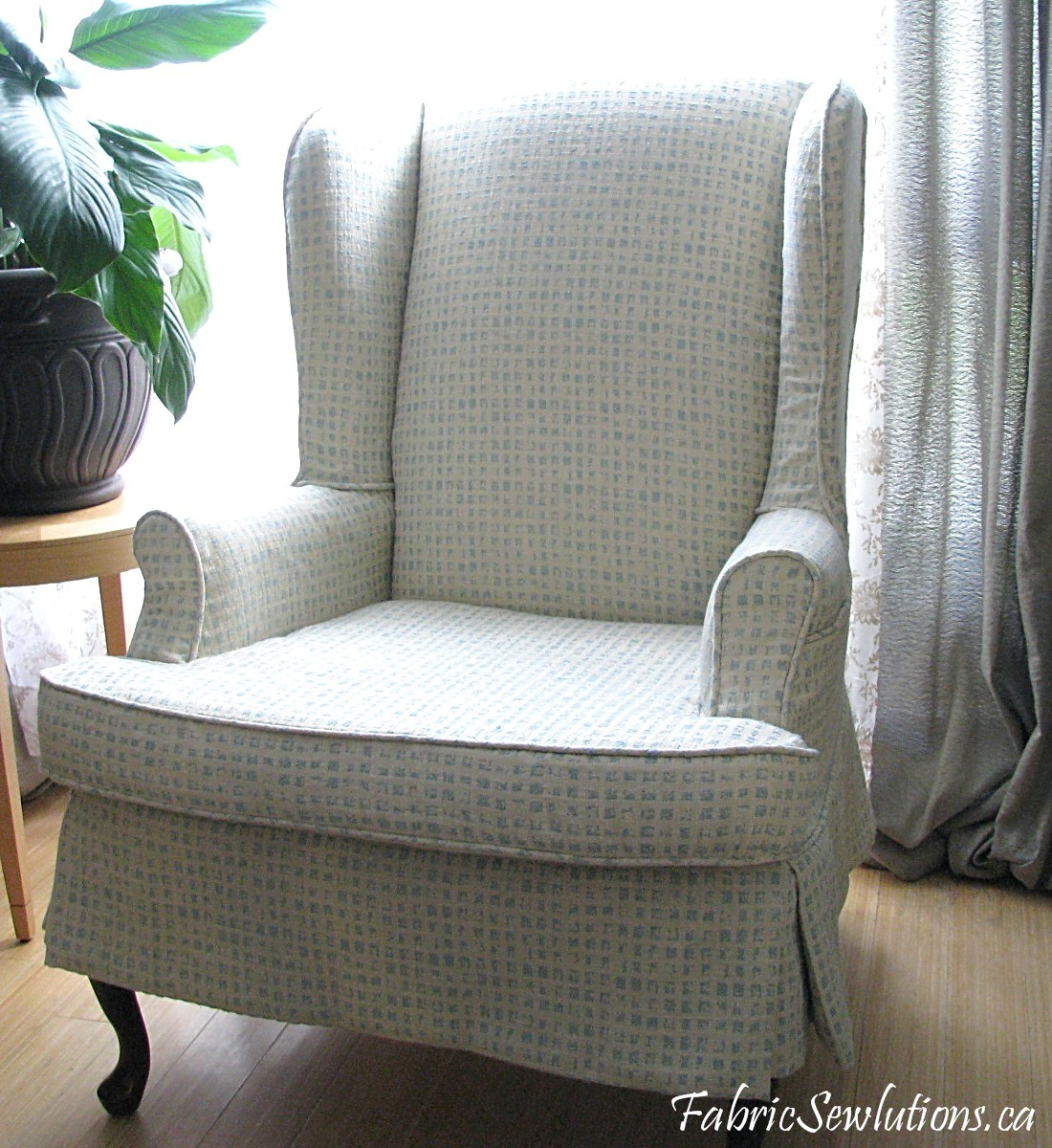 Wingback Chair Slipcover Pattern Wayfair Outdoor Rocking Cushions Sewlutions 39 World
