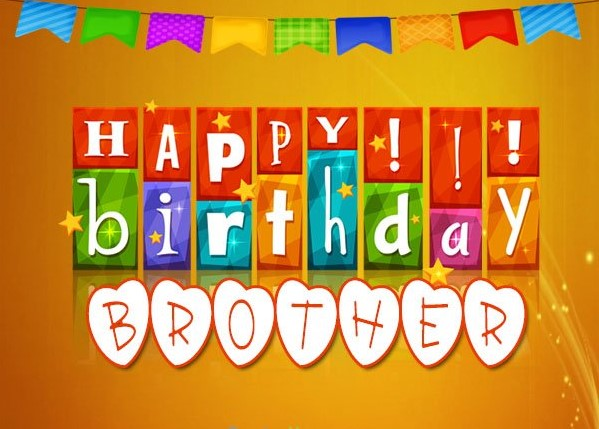 Heart Touching Birthday Wishes for Brother with Image
