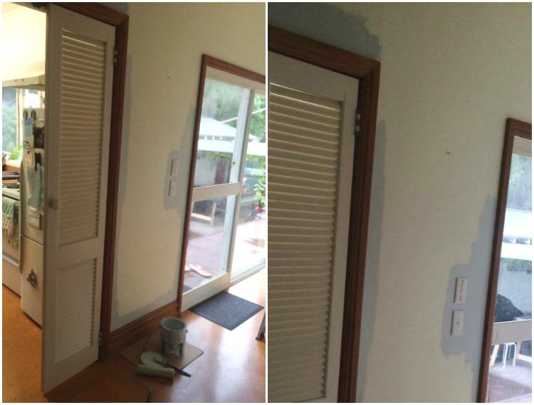 hallway painting in progress