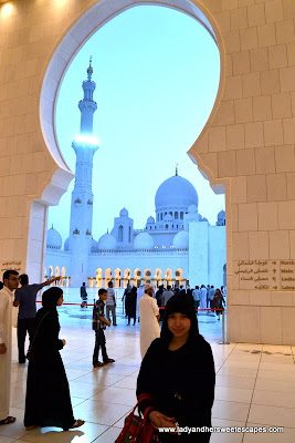 Lady at Sheikh Zayed Grand Mosque Abu Dhabi
