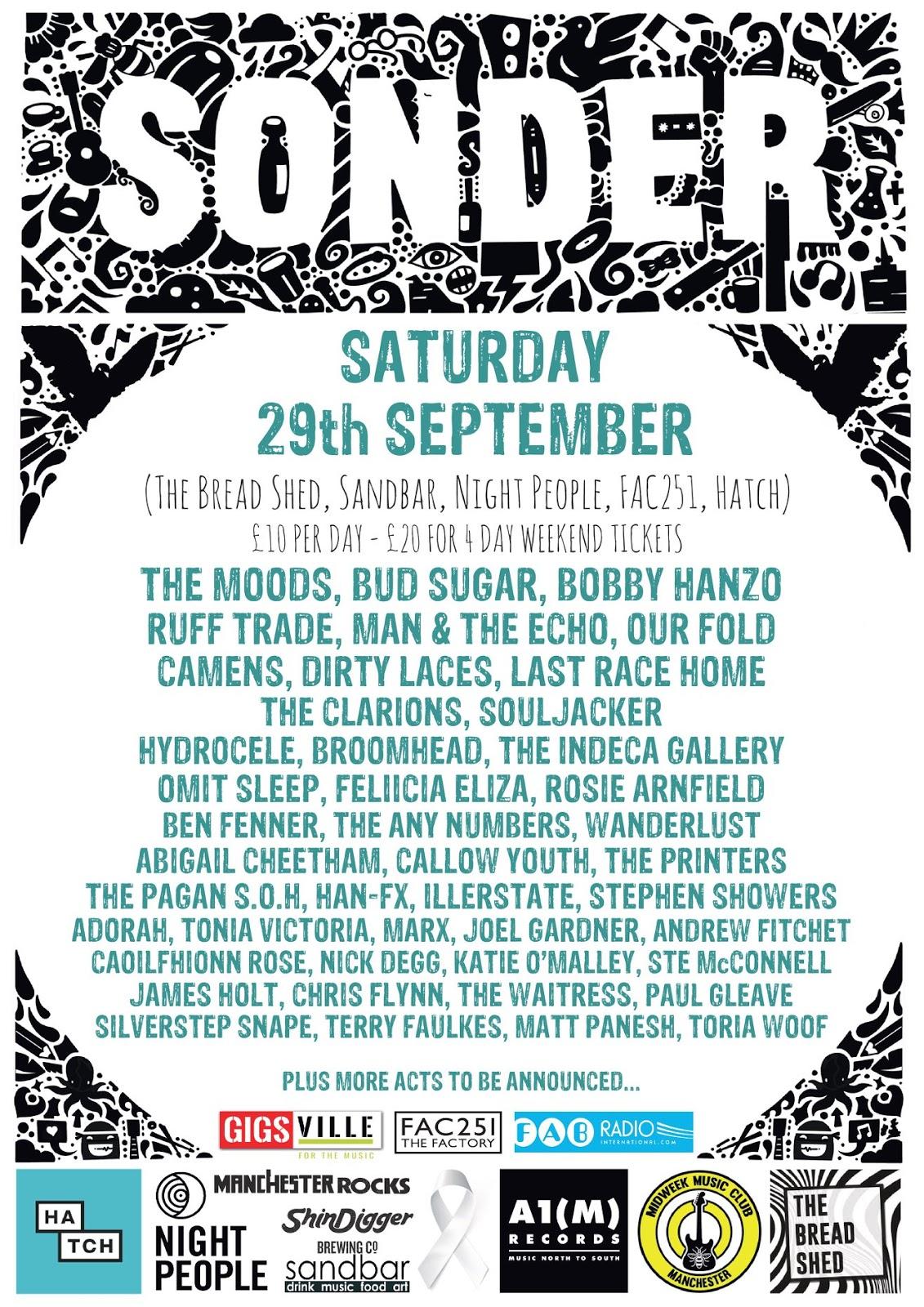 Sonder Festival - Sat 29th Sept
