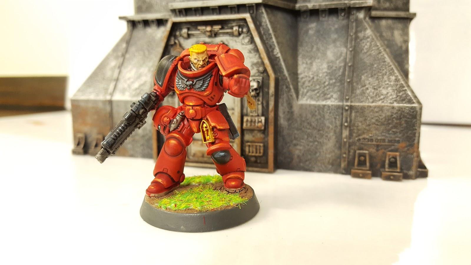 Warhammer 40k Blood Angels Intercessors M-1 pro-painted