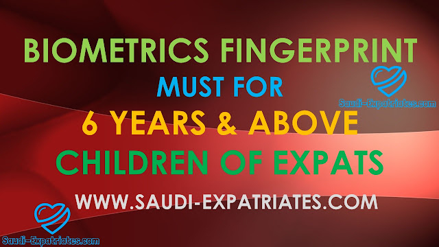 Fingerprint must for expats children above 6 years