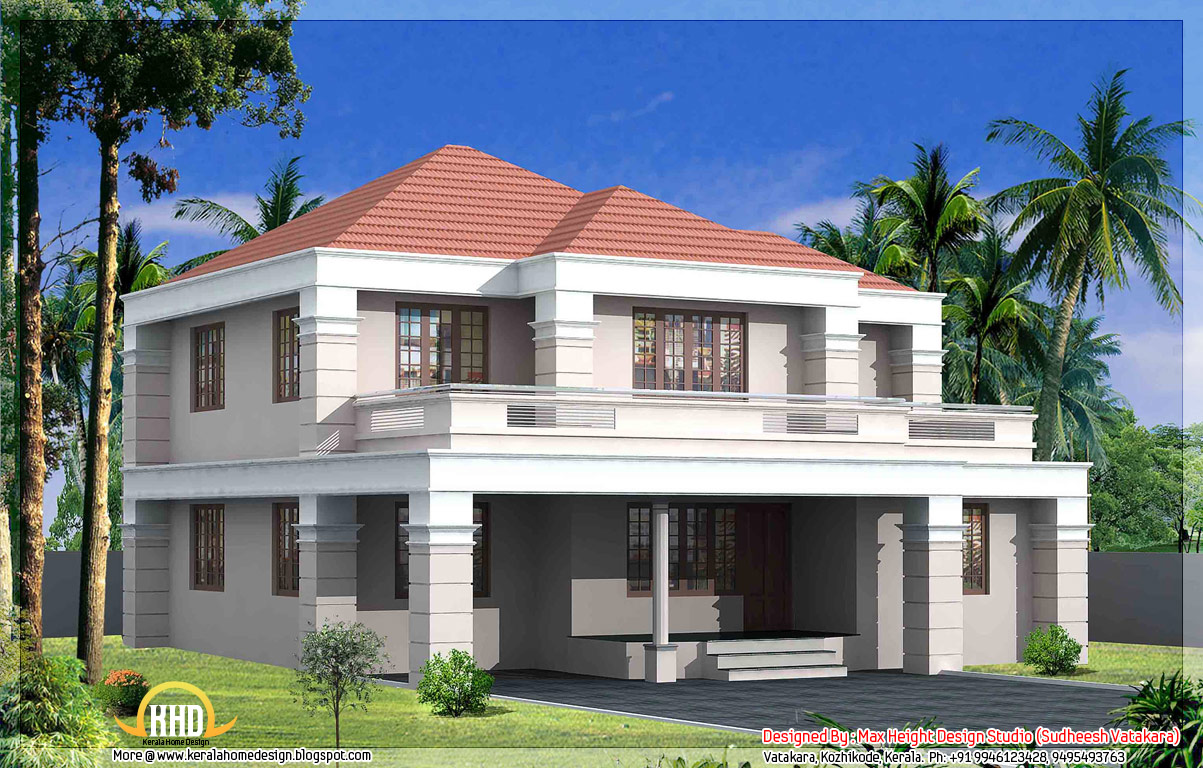 7 beautiful kerala style house elevations kerala home for Normal house front design