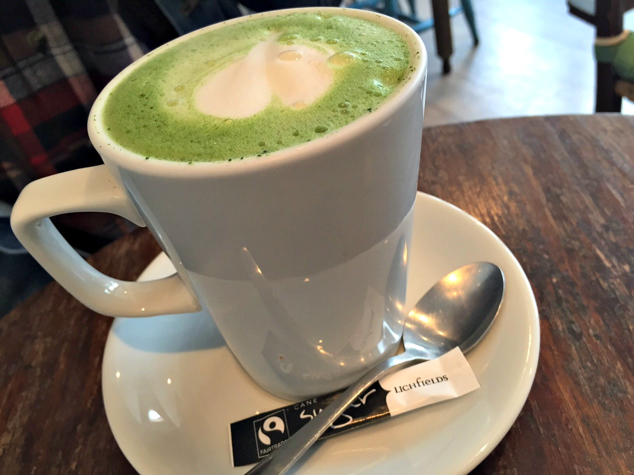 Matcha Soy Latte at Good Apple Cafe in Sunderland