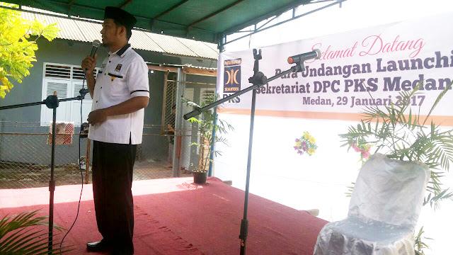 PKS Medan Petisah Launching Rumah Pusat Khidmat