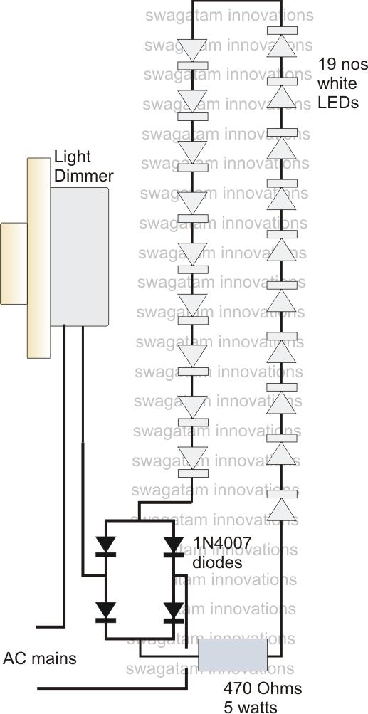 light dimmer circuit diagram using remote