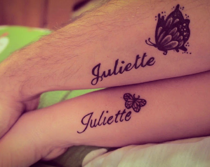 20 Cute Matching Couple Tattoos Ideas