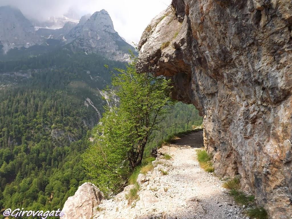 sentiero croz altissimo dolomiti brenta