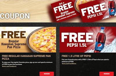 FREE Hawaiian Pizza From Pizza Hut Online