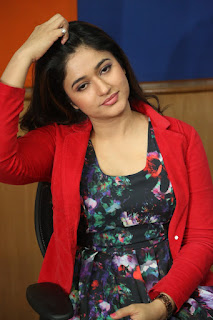 Actress Poonam Bajwa Pictures in Floral Dress at Radio City FM For Kalavathi Movie Promotion  0007.jpg