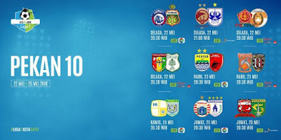 Jadwal Liga 1 2018 Pekan 10