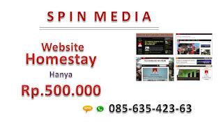 spin media | jasa pembuatan website homestay | 08563542363