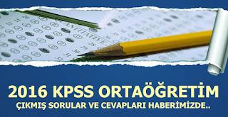 KPSS Ortaöğretim çıkmış sorular ve cevapları