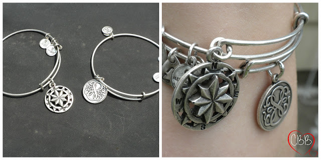 ALEX AND ANI Silver-Plated Charm Bangles Compass Path of Life