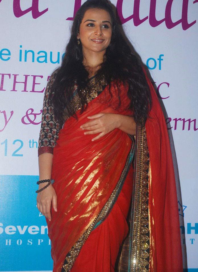 Vidya Balan Beautiful Stills In Red Saree