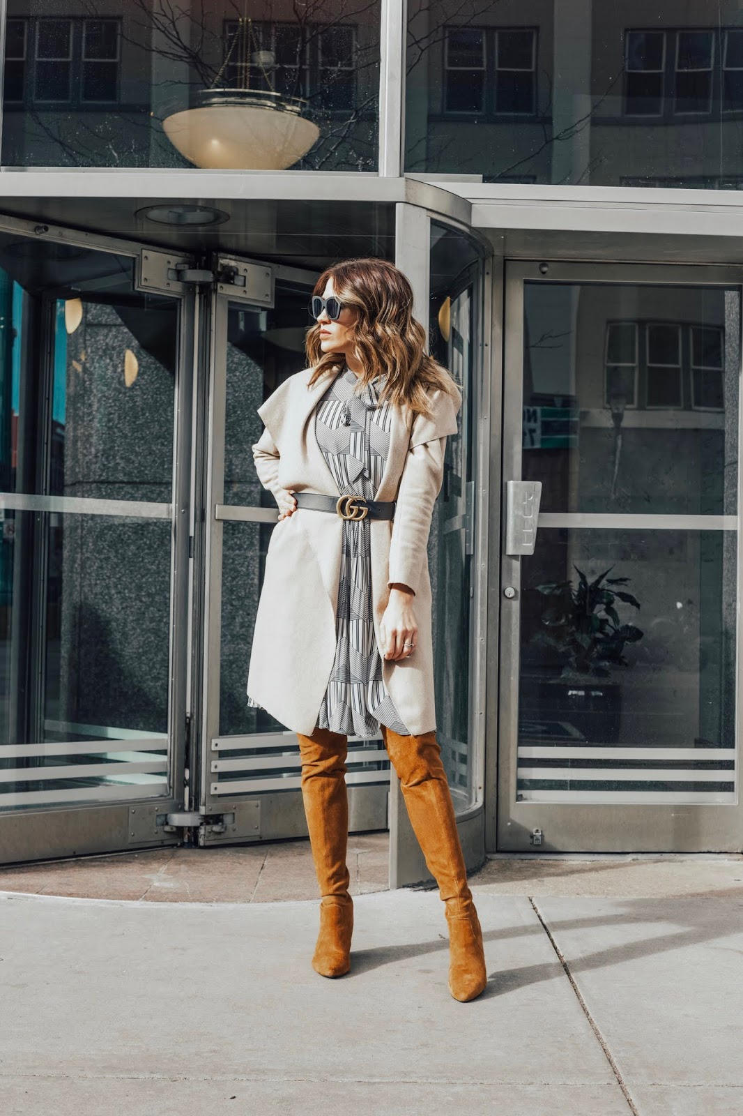How To Style A Dress When It's Cold