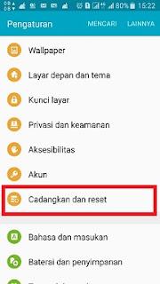 Cara reset Ulang samsung J3 Via Recovery Mode [ Hard Reset ]