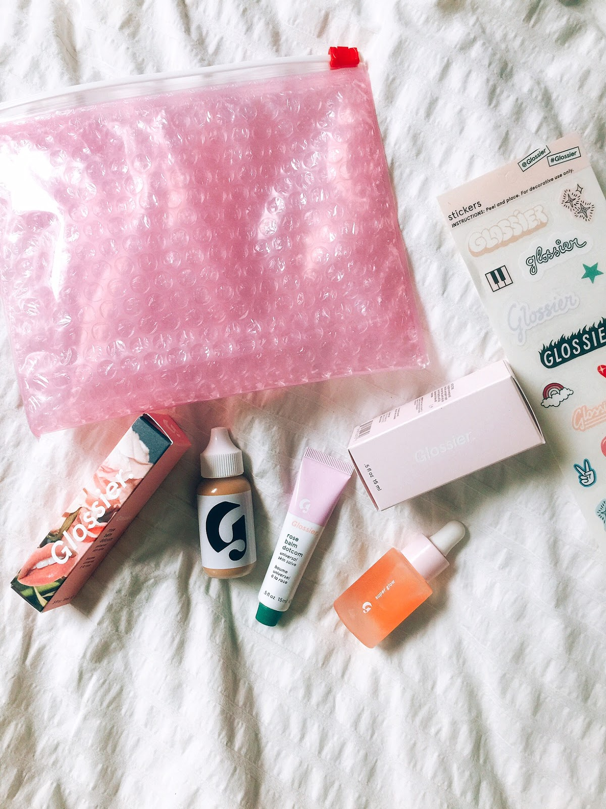product review, glossier, balm dot com, portland blogger, lifestyle blogger, make up, skincare, giveaway, freebies,