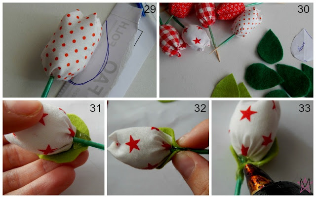 Fabric tulips tutorial