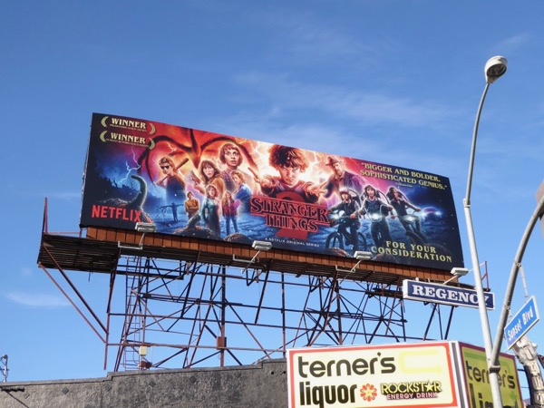 Stranger Things 2 For your consideration billboard