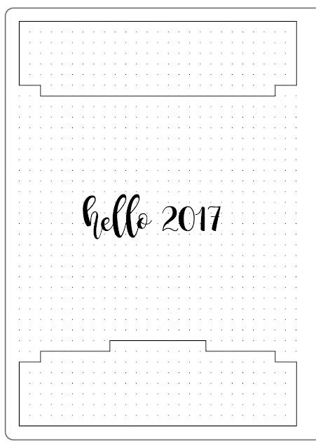 Bullet Journal 2017 Set Up Header Template