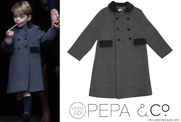 Prince George wore PEPA and CO Classic wool coat