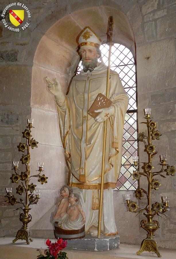 Saint-Nicolas (XIXe siècle) - Statue en plâtre polychrome - Collégiale de Marsal (57)