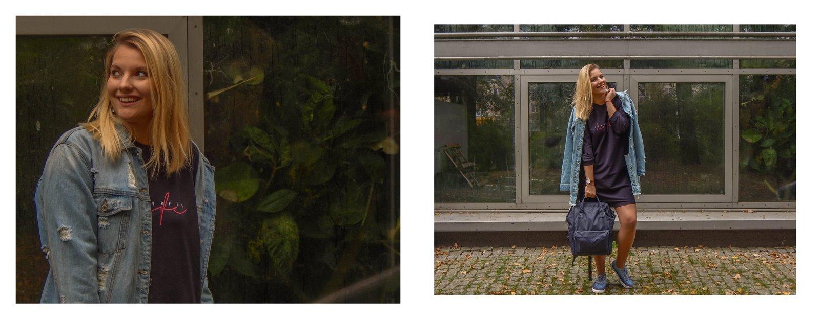 12A volcano sportowe sukienki dla dorosłych dzieci jesienne stylizacje do pracy do szkoły na uczelnię blondynka blog łódź moda styl lifestyle blogerki z łodzi współpraca blog pasja