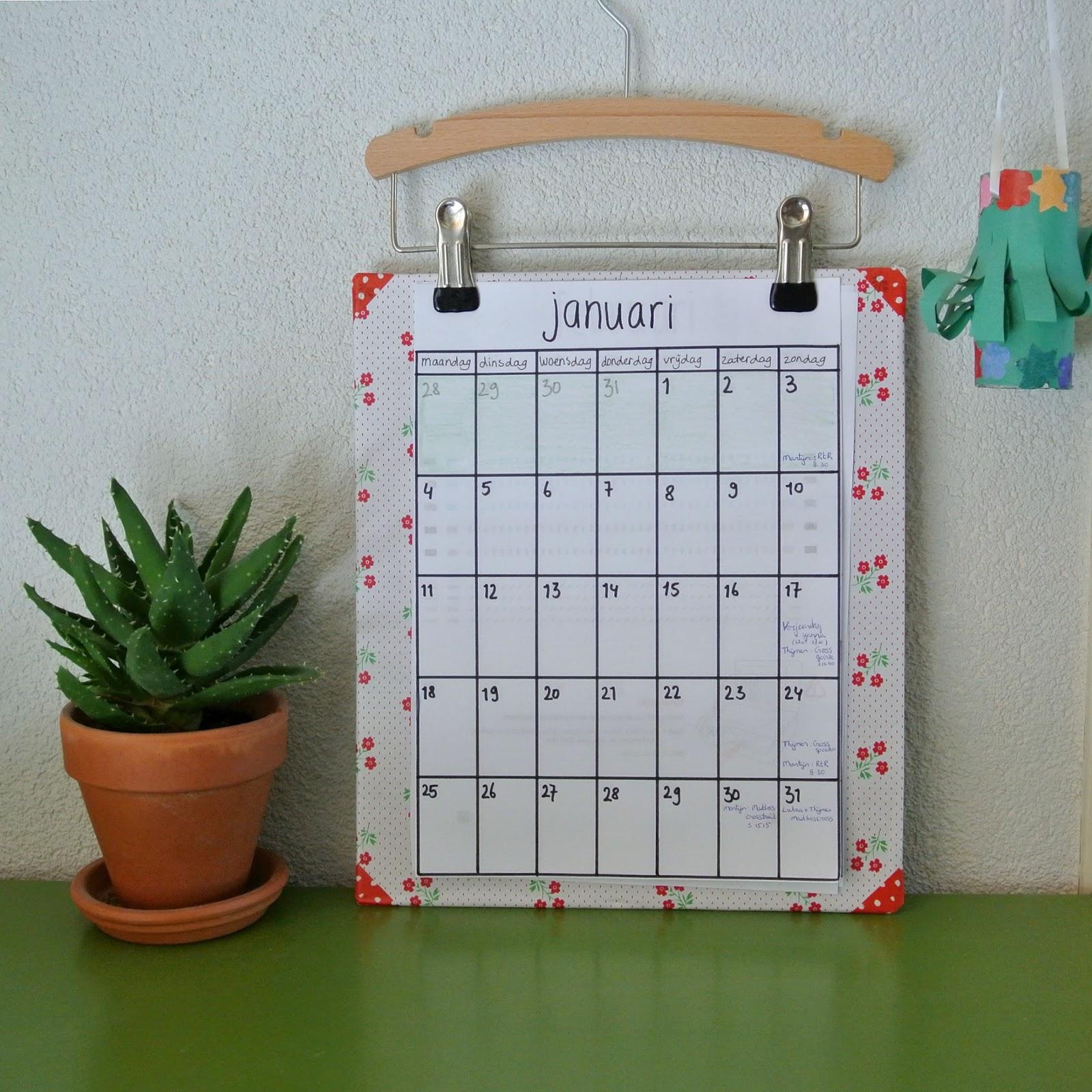 Fabulous Zelf Kalender Maken Knutselen | Kalender &TB65