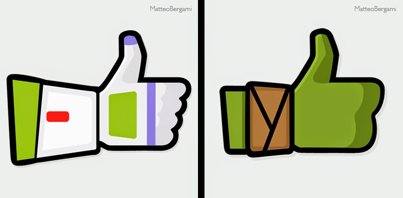 16-Buzz-Lightyear-&-NinjaTurtle-Matteo-Bergami-Facebook-Hand-Thumbs-Up-Art-www-designstack-co