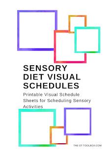 Sensory Diet Visual Schedules