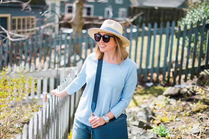 J.Jill chambray sun hat