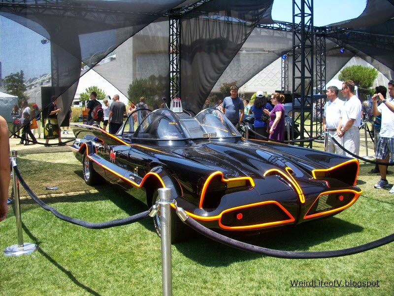 Replica 60s Batmobile on display behind the San Diego Convention Center during San Diego Comic Con 2012