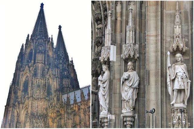 Torre de la Catedral de Colonia Koln – Estatuas en su fachada