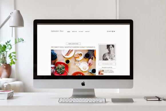 Premade Blogger Template Splendor 2 Free Download