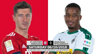 مباشر مشاهدة مباراة بايرن ميونيخ وبوروسيا مونشنغلادباخ بث مباشر 6-10-2018 الدوري الألماني يوتيوب بدون تقطيع